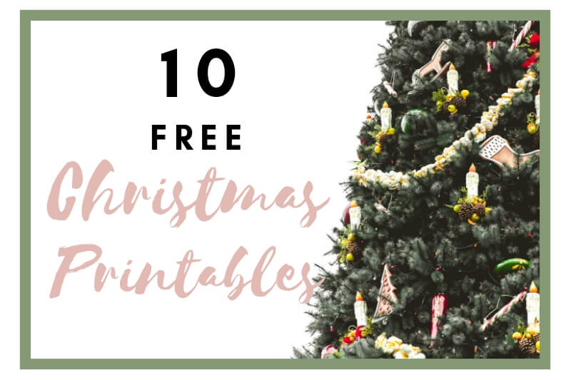10 Awesome Christmas Printables Round-up. –